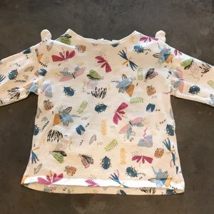 Zara insect tee with knitted bows